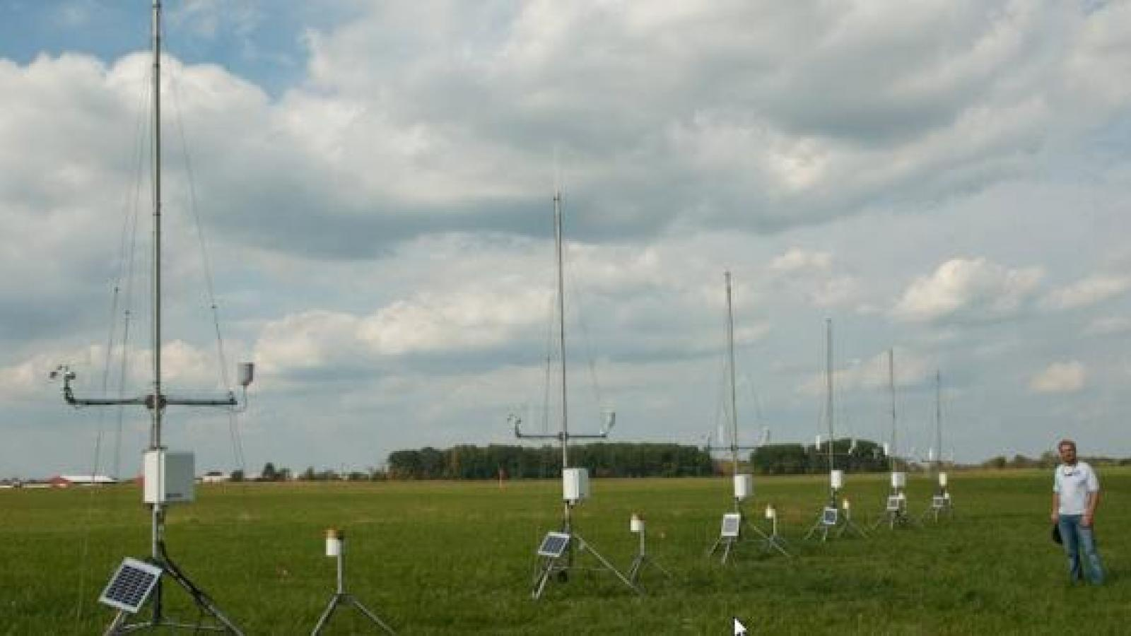 Weather instruments in the field